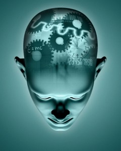 Mechanical Thinking Process in Head